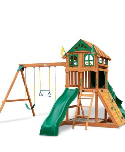 Outing with Wood Roof and Tube Slide